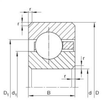 FAG Rolamentos de anel fino - CSCC047
